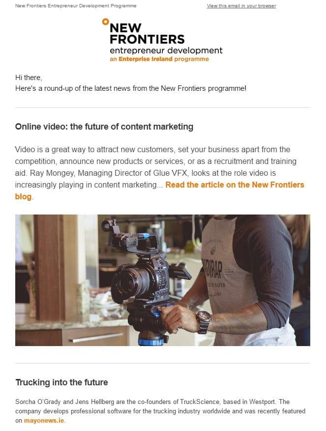 inbound marketing new frontiers newsletter