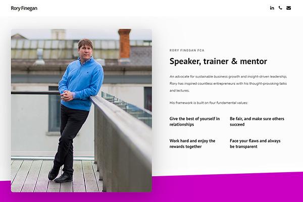 Brochure website WordPress content creation Engage Content Marketing Dublin
