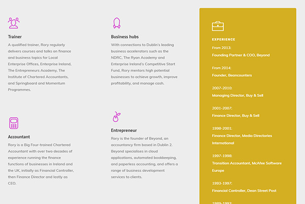 Brochure website for a business speaker - Engage Content Marketing Agency Dublin