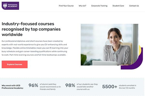 Optimised website text writing portfolio Engage Content Marketing Agency Dublin